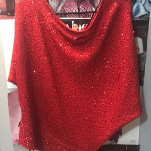 Red shawl top
